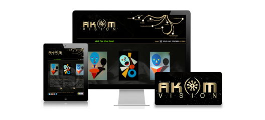 akom vision  website design