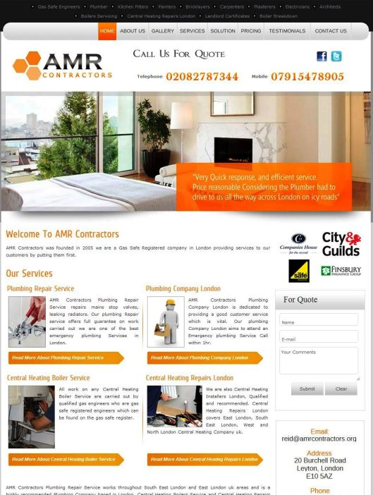 amr contractors website design