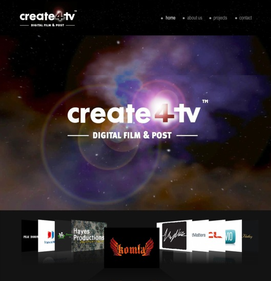 create 4 tv website design